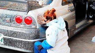 Mann bat seine Frau sein Auto zu bemalen - Schaut was dabei herauskam