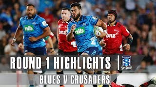 ROUND 1 HIGHLIGHTS: Blues v Crusaders - 2019