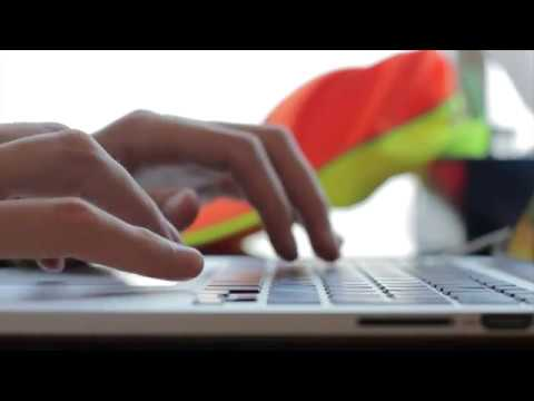 Male Hands Typing On Notebook - Free HD Stock Footage - No Copyright - Office Work Working