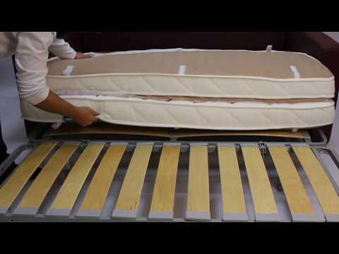 замена и установка матраса в диване аккордеон