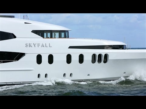 SKYFALL Superyacht Leaves Fort Lauderdale