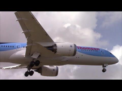 Thomson Airways 787-8's landing in Barbados on RWY 09