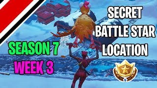 Fortnite Season 7 Week 3 Secret Battlestar / Battle Flag Location (Snowfall Challenges)