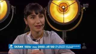 Laleh intervju under Hela Sverige skramlar samt hälsning från Eva Dahlgren, 2015