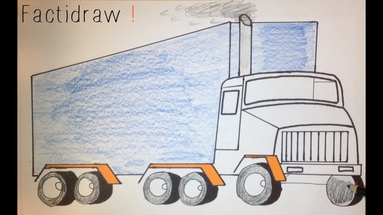 how to draw a truck simple drawing tutorial youtube