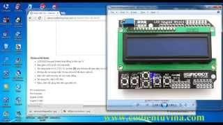 Hướng dẫn sử dụng Arduino LCD keypad shield - www.codientuvina.com