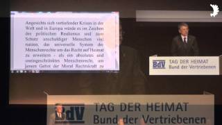 László Kövér: Kollektivschuldprinzip ist absurd / Menschenrechte um Recht auf Heimat erweitern