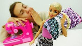 Барби переехала в новую квартиру: Шьем подушку для Барби