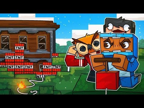 We found a Woodland Mansion and Blew it up! - Minecraft