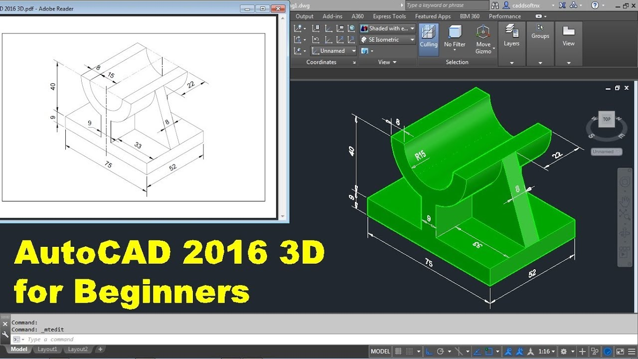 AutoCAD 2016 3D Tutorial for Beginners