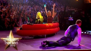 Michael Fassbender Does the Worm!   The Graham Norton Show