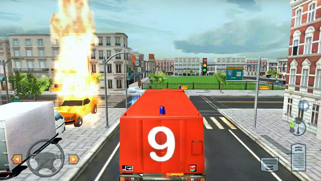 City Firefighter Driving Simulator 2019 - Fire Engine Simulation - Android  Gameplay FHD
