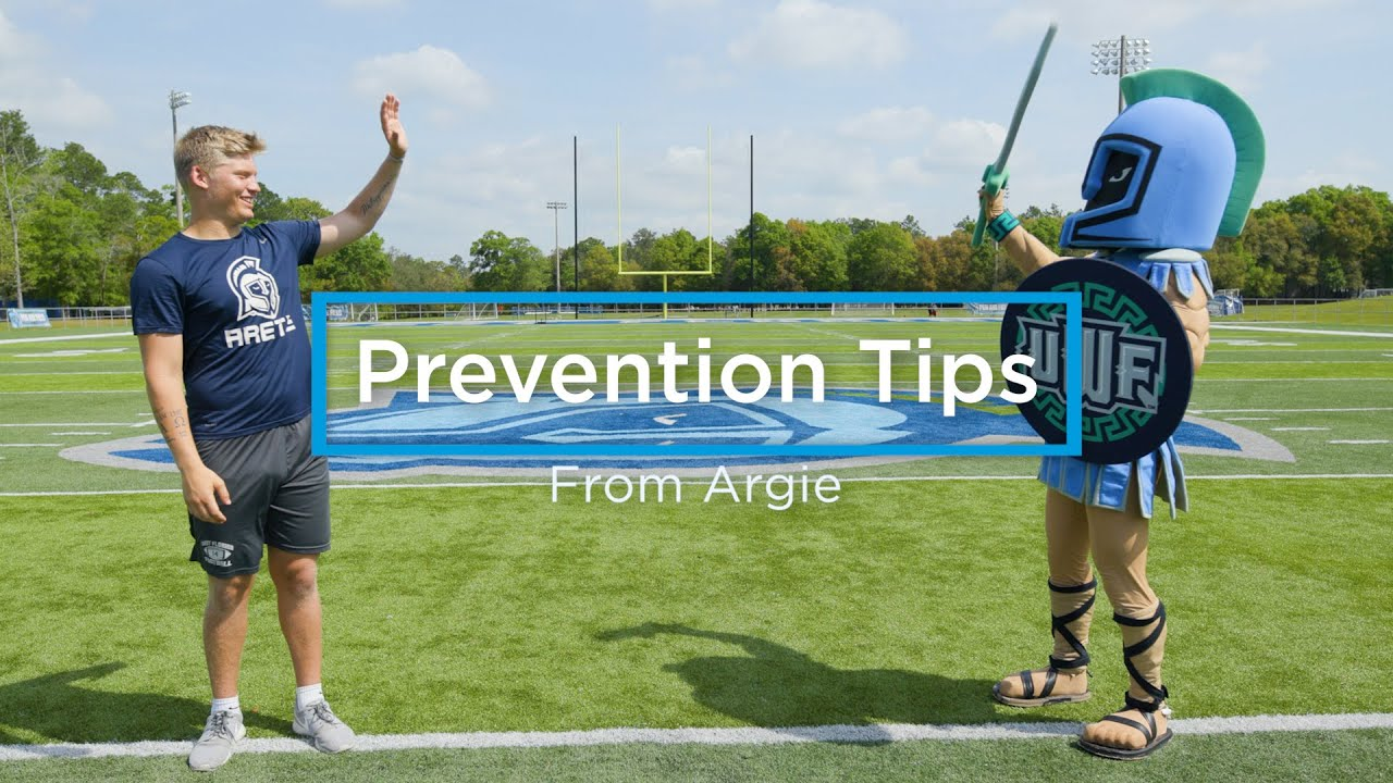 Uwf Quarterback Austin Reed Joins Argo Mascot For Covid 19 Safety Video