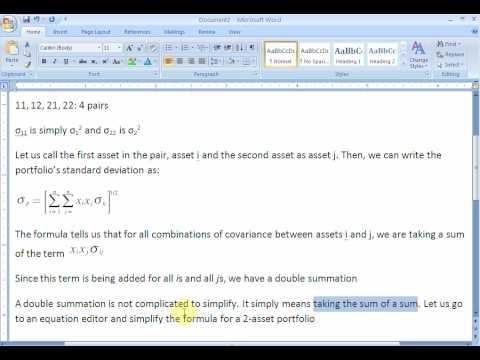Portfolio Risk: The Double Summation Formula