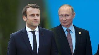 Пресс конференция Владимира Путина и Эммануэля Макрона по итогу переговоров  Прямая трансляция