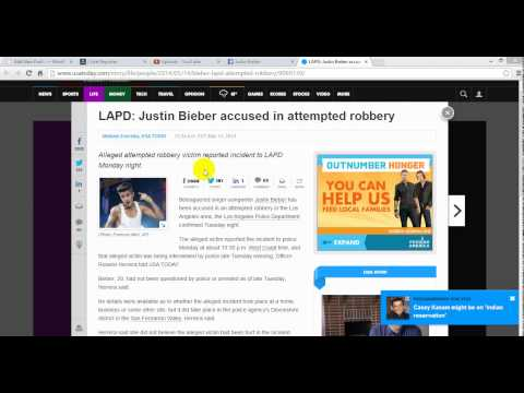 Justin Bieber attempted robbery