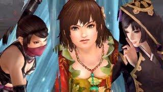 Musou Orochi 2 (Warriors Orochi 3) - Kunoichi, Sun Shang Xiang, Aya Gozen Combo Gameplay [HD]