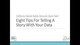 Eight Tips For Telling a Story With Your Data