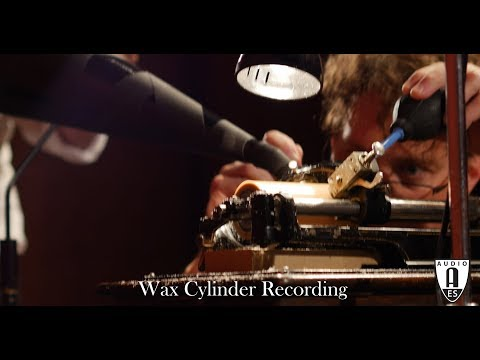 Wax Cylinder Recording at US Library of Congress AES AAP&R 2018