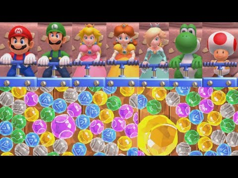Mario Party 10 - Jewel Drop - All Characters