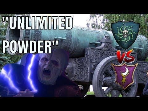 Vampire Coast Vs Dark Elves | UNLIMITED POWDER - Total War Warhammer 2