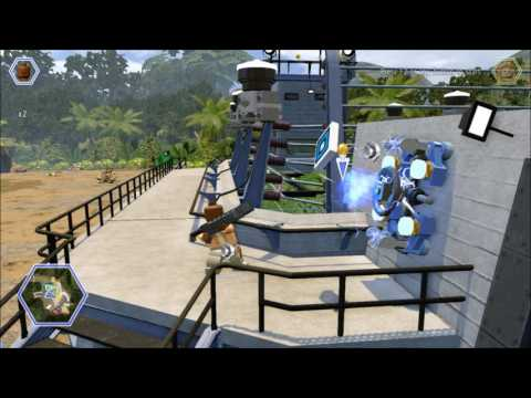 Lego Jurassic World. Barry unlocks a Gold Brick, Raptor Territory, Jurassic Park.