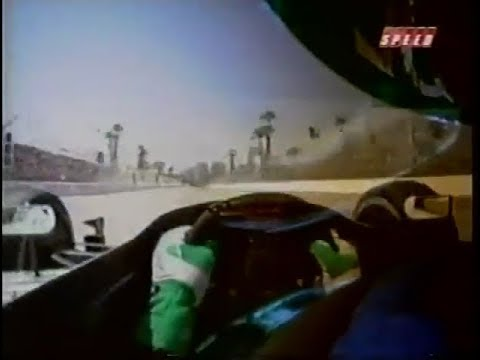 2002 CART Long Beach Qualifying - Paul Tracy Visor-Cam OnBoard