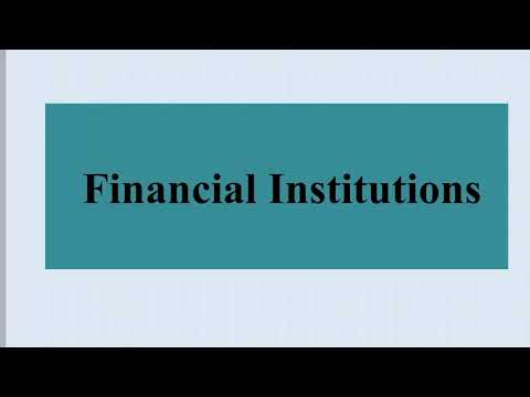 Financial Institutions of India