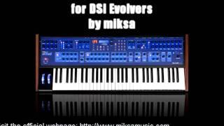 Trance / Progressive Soundset for DSI Evolver (Poly Evolver) Preset Demo