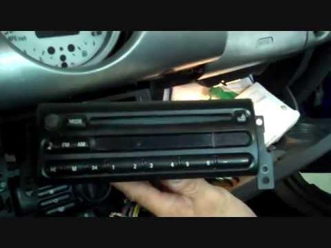 Mini Cooper Stereo Removal 2002-2006 - YouTube
