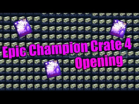 Massive Champion Crate 4 opening!! - Getting Biomass