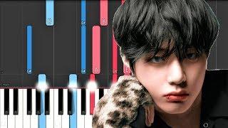 BTS V - Winter Bear (Piano Tutorial)