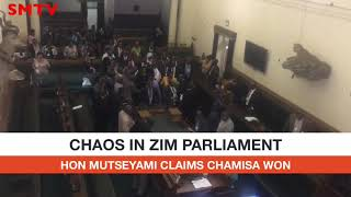 Hon Mutseyami MDC Alliance MP claims during Tuesday's Parliament session that Ed Lost Elections