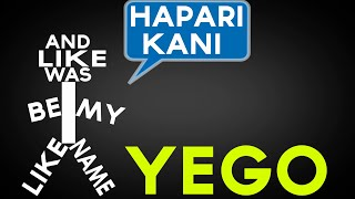 Khaligraph Jones - Yego Lyrics (Kinetic Typography)