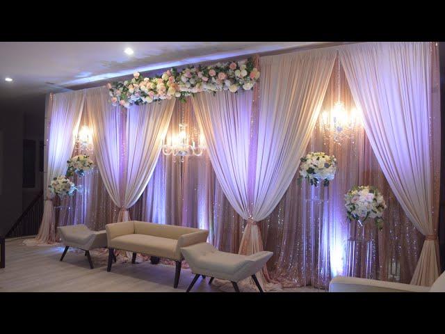 DIY - Multiple chandelier backdrop diy - Stage backdrop , diy - wedding backdrop