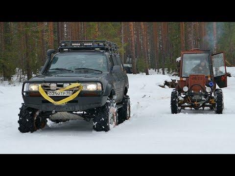 Турбо-трактор против самого лютого внедорожника в Спб!