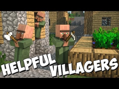 Обзор модов Minecraft #52 Helpful Villagers - Странные жители:)