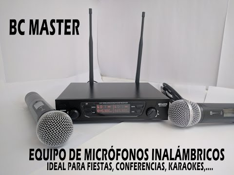 BC Master - Sistema de micrófono inalámbrico para karaoke
