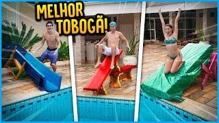 QUEM FAZ O MELHOR TOBOGÃ COM ITENS DA CASA!! ( GANHA 5000 R$ ) [ REZENDE EVIL ]