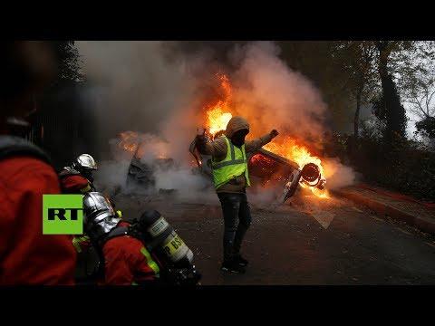 París se convierte en un 'campo de batalla' en las protestas de los 'chalecos amarillos'