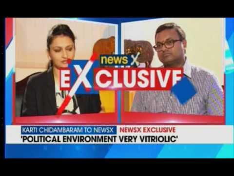 Karti P Chidambaram's interview to NewsX