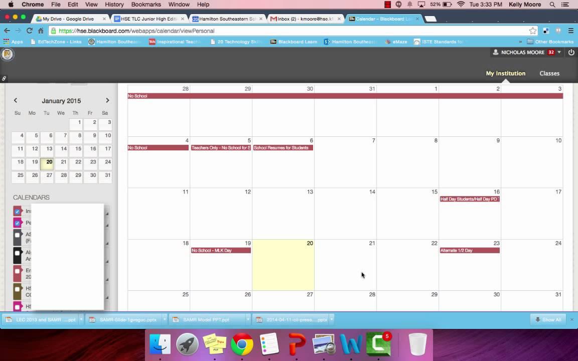 Hse Bb Calendar Scenario 1 Youtube