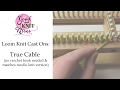 Loom Knit Cast On: True Cable Cast On | matches needle version (Closed Captions CC)