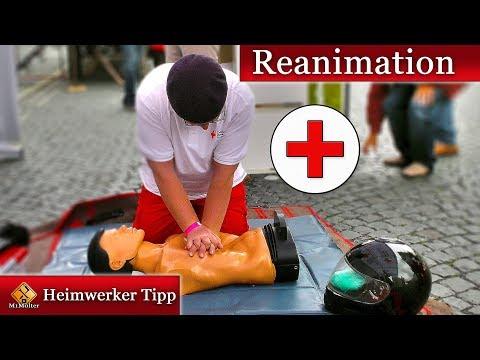 Erste Hilfe Video - Reanimation und stabile Seitenlage im Video erklärt.