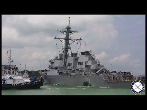 Stricken Destroyer USS John McCain Arrives in Singapore