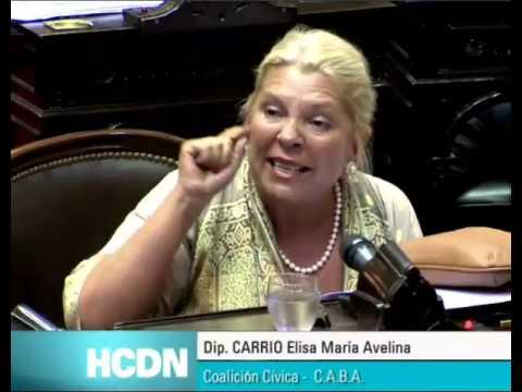 Elisa Carrio HCDN ( holdouts) ¡DONDE ESTÁ LA PATRIA, SEÑORES! 15/03/2016
