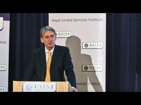 Defence Secretary Philip Hammond first public speech