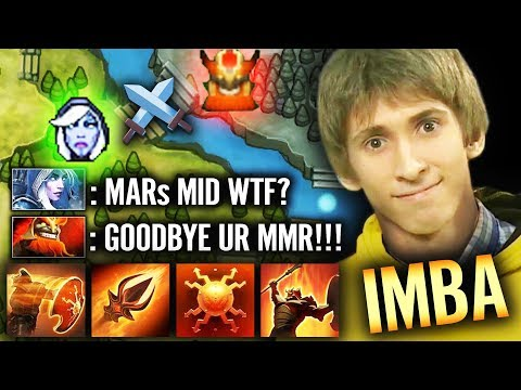 WTF Mars MID By Dendi NEW IMBA Most Fun 7.21 Hero EPIC Dota 2 Gameplay