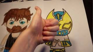 How  to draw Dean Ambrose