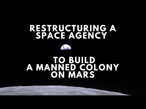 Restructuring a National Space Agency to Build a Manned Colony on Mars